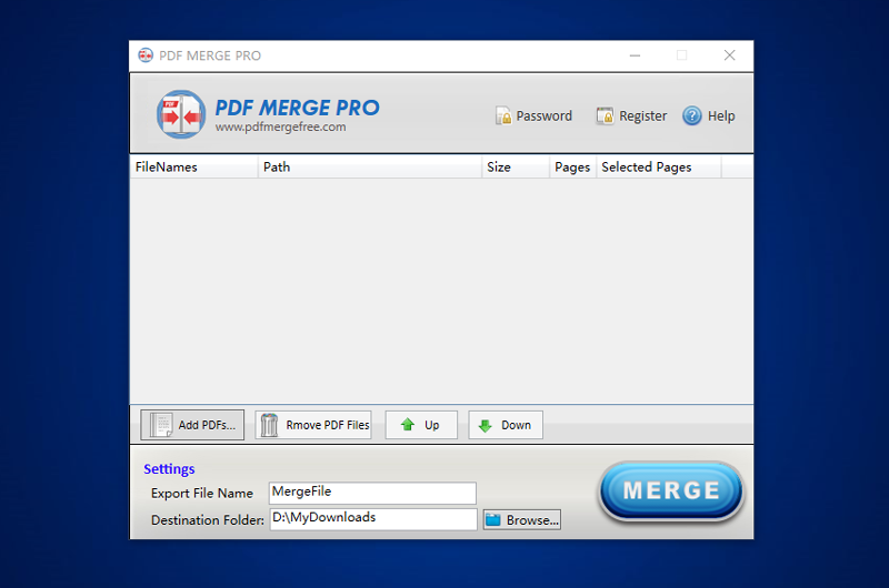 pdf merge pro screenshot